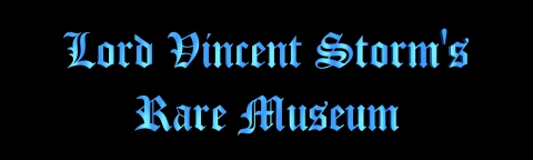 Lord Vincent Storm's Museum Heading